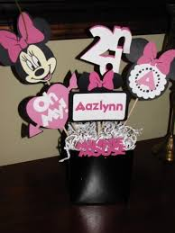 minnie mouse centerpiece or cake table decor by gamiboutique on zibbet