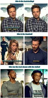 Winter Soldier Meme - the cast of captain america winter soldier show some love for