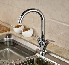 kitchen faucet one deck mount two handles kitchen faucet mixer tap chrome brass