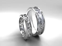 filigree wedding band filigree wedding band set white gold black diamond wedding
