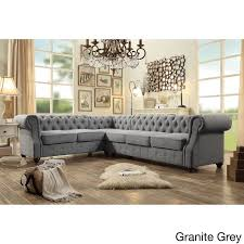 10 Foot Sectional Sofa Outstanding Decenni Tobias 10 Foot Chaise U Shape Tufted