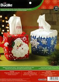 christmas tissue box covers bucilla 2 piece felt home decor kit