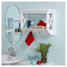 x frame collection wall shelf with hooks white riverridge target