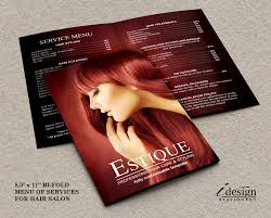 hair salon service price list professional hair stylist menu by