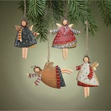 12 rustic metal dancing angel ornaments dozen country christmas