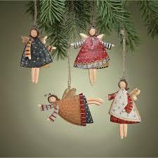 12 rustic metal dancing angel ornaments dozen country christmas