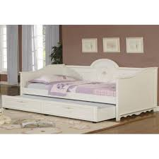 White Wood Daybed With Trundle Bedroom White Wooden Daybed With Trundle 421242922201732 White