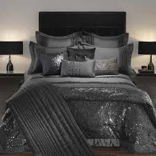 Silver Comforter Set Queen Black And Silver Bed Covers 666