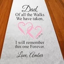 personalized aisle runner of all the walks with personalized walk with aisle runner