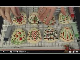asmr soft spoken decorating ugly christmas sweater cookies some