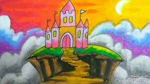 colour castle crayon gradation kids learn easily