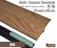 Laminate Flooring Threshold Trim Oak Laminated Transition Threshold Strip 50mm X 90cm Multi Height