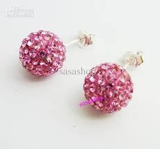 glitter stud earrings 2017 cz disco balls stud earrings rhinestone