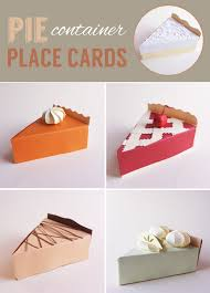 craft on pie container place cards alana jones mann