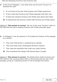 theme of romeo and juliet and pyramus and thisbe grade 10 fsa ela reading practice test answer key pdf