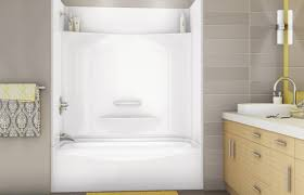 Bathroom Tubs And Showers Ideas by Two Piece Tub Shower 2 Piece Right Handaquatic 60 In X 30 In X 72