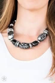 black neck necklace images Paparazzi blockbuster necklace in good glazes black debs jpg