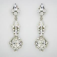 wedding earrings drop erin cole couture bridal earrings drop earrings