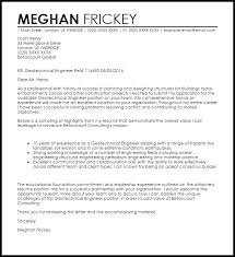 geotechnical engineer cover letter sample livecareer