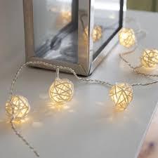 guirlande lumineuse deco chambre 16 led guirlande lumineuse boule rotin décoration sepak takraw