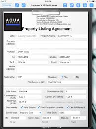 real estate agent creates property listing form form connections