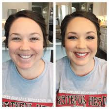 wedding makeup bridesmaid and makeup before and afters why airbrush makeup is better