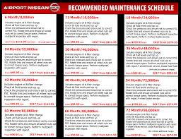 nissan canada oil change cost maintenance schedule u0026 pricing airport nissan