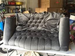 How To Recover Armchair While They Snooze How To Reupholster A Tufted Couch