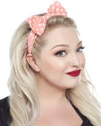 bow headband lindy bop pink polka dot bow headband sourpuss clothing