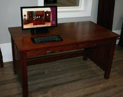 Small Solid Wood Desk Hardwood Office Desk Attractive Real Wood Computer Desk Solid Wood
