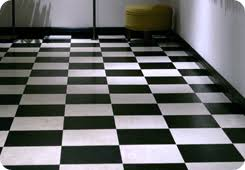 black and white vinyl tiles from safety flooring uk