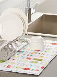 reversible dish drying mat simons maison chic and useful