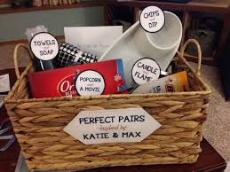 bridal shower gift perfect pairs basket all the gifts came in