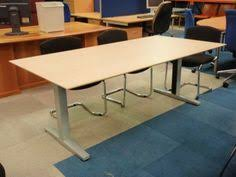 Oval Boardroom Table Fully Powered Work Bench Two In Stock Meeting Rooms Tables And