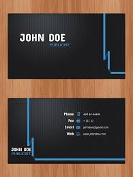 Good Business Card Font Business Cards Psd