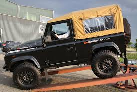 land rover defender convertible defender soft top conversion made by 4ward4x4