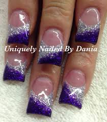 purple and silver nail art nail art pinterest silver nail
