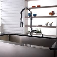 decorating modern kitchen design with vigo sinks and graff