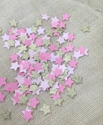 twinkle twinkle little star pink gold glitter confetti first