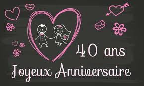 40 ans de mariage anniversaire 40 ans mariage de mariage
