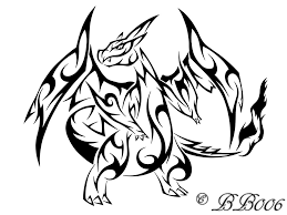 mega charizard tribal coloring pages 544 pokemon coloring pages