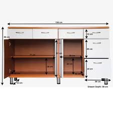 hanging kitchen cabinets dimensions