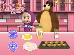 masha cooking lesson masha bear games