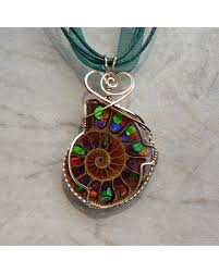 necklace wire images New savings on ammolite pendant wire wrapped pendant ammonite