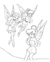 math coloring sheets pages tinkerbell tinkerbell color pages