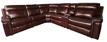 Power Sectional Sofa Baxter 6 Leather Match Power Sectional With 2 Recliners