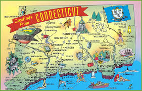 Travel Map Of Usa by Illustrated Tourist Map Of Connecticut