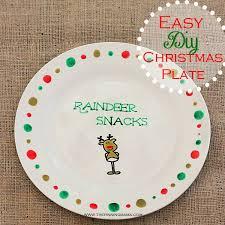 easy diy plate cookies for santa and reindeer snacks
