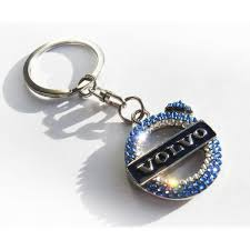 volvo logo bling volvo keychain with genuine swarovski crystals