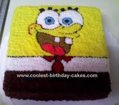 spongebob birthday cake home made spongebob birthday cake